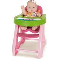 Boneca - 34Cm - Baby Jr - Cadeirão De Papinha - Cotiplás