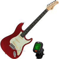 Guitarra Elétrica Stratocaster Tagima Tg-500 Vermelha + Afinador Cs-4 Nucleo