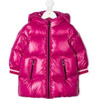 Moncler Kids Hooded Padded Coat - Rosa
