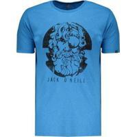 Camiseta O'Neill Face Off Estampada Masculina - Masculino-Azul