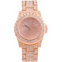 Relógio De Luxo Feminino Strass Bee Sister - Rose
