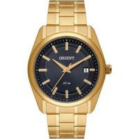 Relógio Orient Social Analógico Mgss1184G1Kx Masculino - Masculino-Dourado