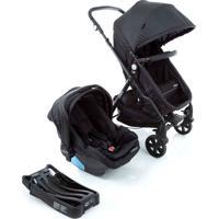Carrinho Para Bebê Travel System Trio Poppy Preto Mescla Cosco