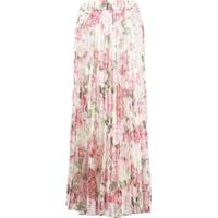 P.A.R.O.S.H. Floral Print Pleated Skirt - Rosa