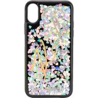 Karl Lagerfeld Capa Do Iphone X Com Glitter - Preto
