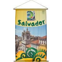 Flâmula Licenciados Copa Do Mundo Cidades Poly Salvador Amarela
