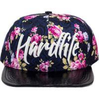 Boné Hardlife Brasil Snapback Roses Preto