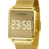 Relógio Lince Quadrado Feminino - Feminino-Dourado
