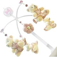 Móbile Musical Enoy Ursa Com4 Floral Rosa