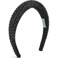 Prada Headband Com Aplicação De Cristais - Preto
