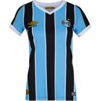 Camisa Do Grêmio I 2019 Umbro - Feminina - Azul
