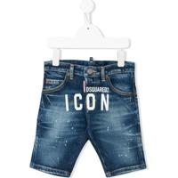 Dsquared2 Kids Short Jeans Icon - Azul