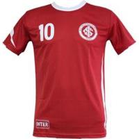 Camisa Internacional Dry Placar Masculina - Masculino-Vermelho