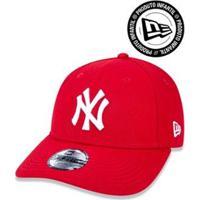 Boné 940 Infantil New York Yankees Mlb Aba Curva New Era - Masculino-Vermelho