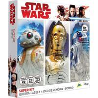 Kit De Atividades - Star Wars - Ep. Viii - Quebra-Cabeça + Dominó + Jogo Da Memória - Jak