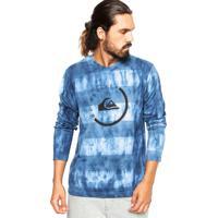 Camiseta Quiksilver Radio Navy Azul