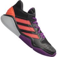 Tênis Adidas Harden Stepback - Masculino - Preto/Roxo