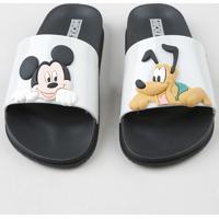 Chinelo Slide Infantil Grendene Mickey E Pluto Preto