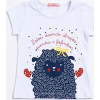 Blusa Infantil Estampada Manga Curta Marisa