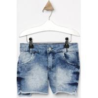 Short Jeans Com Bolsosazul Clarolook Jeanslook Jeans