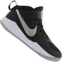 Tênis Nike Team Hustle D 9 Gs - Infantil - Preto/Cinza Claro