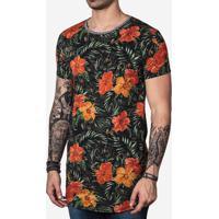 Camiseta Longline Tropical 100721