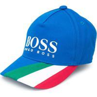 Boss Kids Boné De Algodão Italia - Azul