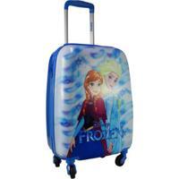 Mala De Viagem Infantil Luxcel Frozen Mi54053Fz Feminina - Feminino-Azul