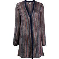 M Missoni Metallic Striped Cardigan - Azul