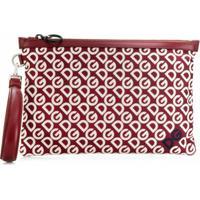Dolce & Gabbana Bolsa Carteira Dg Mania Com Estampa - Vermelho