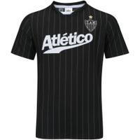 3084b23f51 Camiseta Do Atlético-Mg Custom - Infantil - Preto Branco