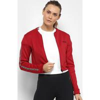 Jaqueta Cropped Adidas Oys Feminina - Feminino-Vermelho