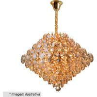 Lustre Diamond- Cristal & Dourado- 42Xø56Cm- Bivhevvy