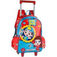 Mochila Infantil Com Rodas - 43X32 Cm - Nº 16 - Oficial - Luccas Neto Com Sons - Clio Style