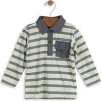 Camisa Polo Infantil Listrada Verde