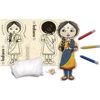 Boneca De Pano Indiana Alegria Sem Bateria Colorido