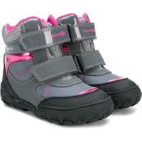 Geox Kids Bota Com Velcro - Cinza
