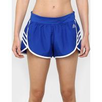 Short Adidas Ultimate Wvn 3S Feminino - Feminino-Azul+Branco