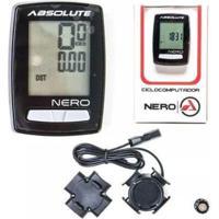 Ciclocomputador Velocímetro Bike 10 Funções Absolute Nero - Unissex