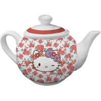 Bule De Chá Em Cerâmica Branco Hello Kitty Urban