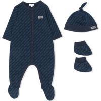 Boss Kids Pijama Com Estampa De Logo - Azul
