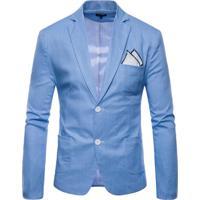 Blazer Masculino - Azul Claro Xgg