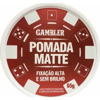 Pomada Matte Alta Fiixação 65G - Gambler - Masculino-Incolor
