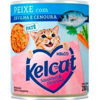 Ração Para Gatos Kelcat Peixe Com Ervilha E Cenoura Lata 280G