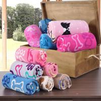 Manta Pet Cobertor Microfibra Para Cahorro - Kit Com 12 Un