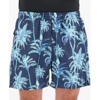 Short Speedo Oahu Flower Estampada Masculino - Masculino-Azul