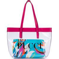Emilio Pucci Junior Bolsa Tote Com Estampa De Logo - Rosa