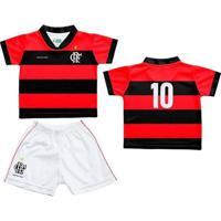 Conjunto Flamengo Infantil Sublimado - Unissex