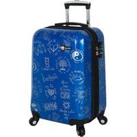 Mala De Viagem Medallions- Azul & Branca- 79X54,6X34Mia Toro