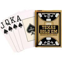 Jogo De Cartas - Baralho Profissional - Texas Hold'Em - Preto - Copag